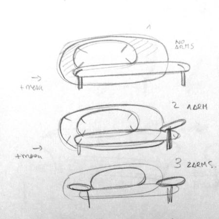 Yonoh最初的发想是以一个可爱迎人的造型入手,创造一个拥有多种功能组合(包括边桌和扶手桌等),适于各种空间的多变沙发组。