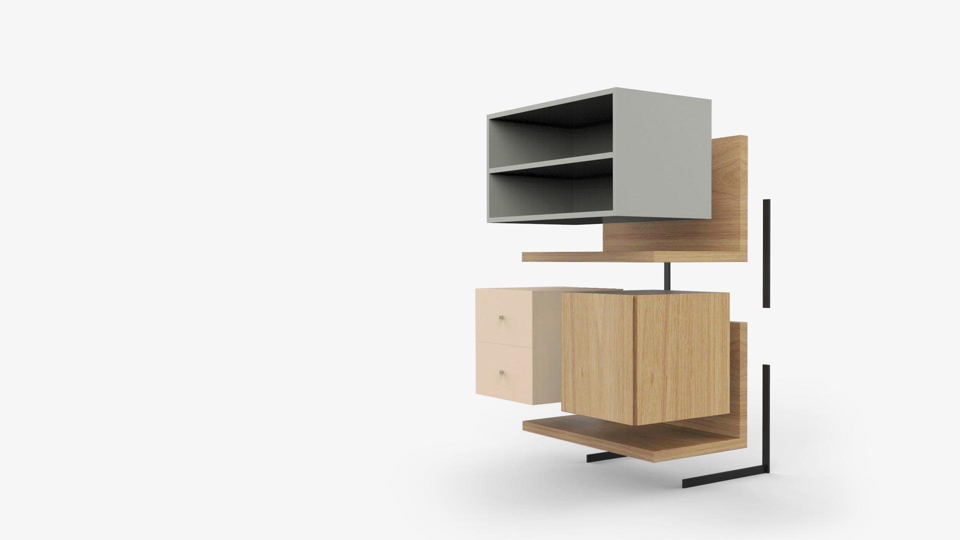 特别设计L型隔板<br/>优美与稳固的双重保障