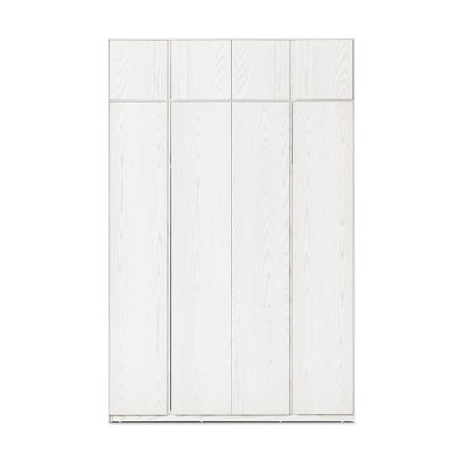 画板四门衣柜®-带顶柜
