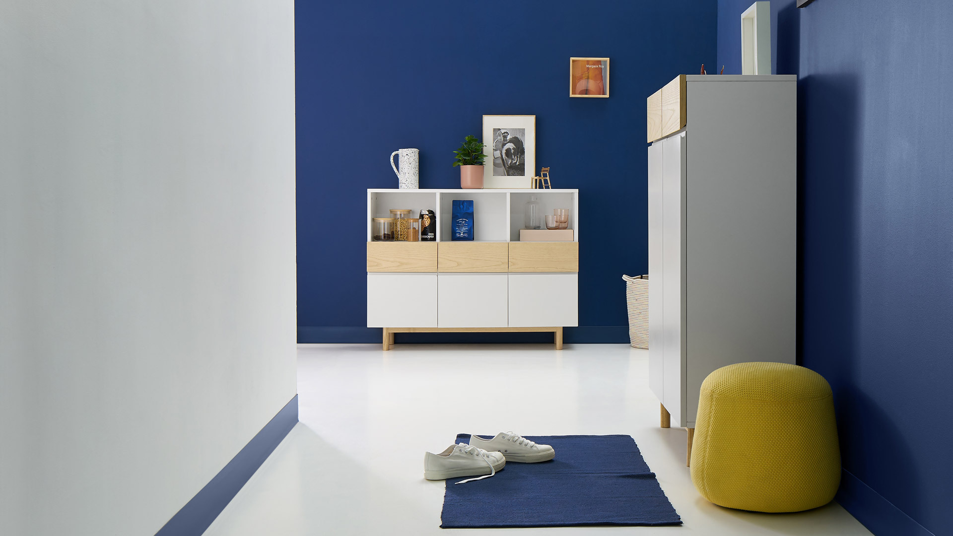 半米空間,給玄關的舒適換鞋凳