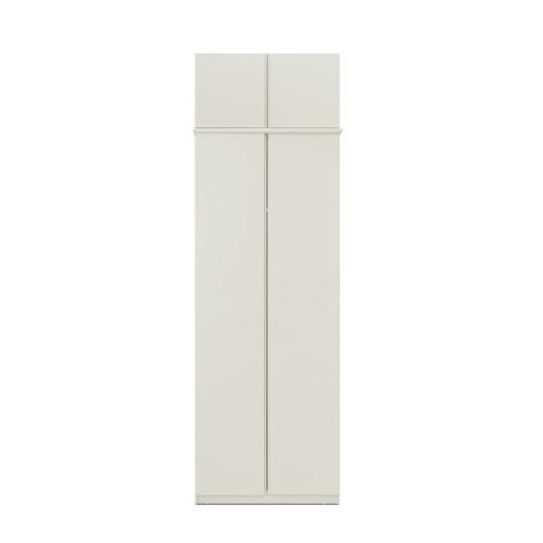 美術館衣柜兩門有頂柜柜架效果圖