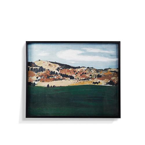 罗尔纯系列版画-风景落户草原装饰效果图