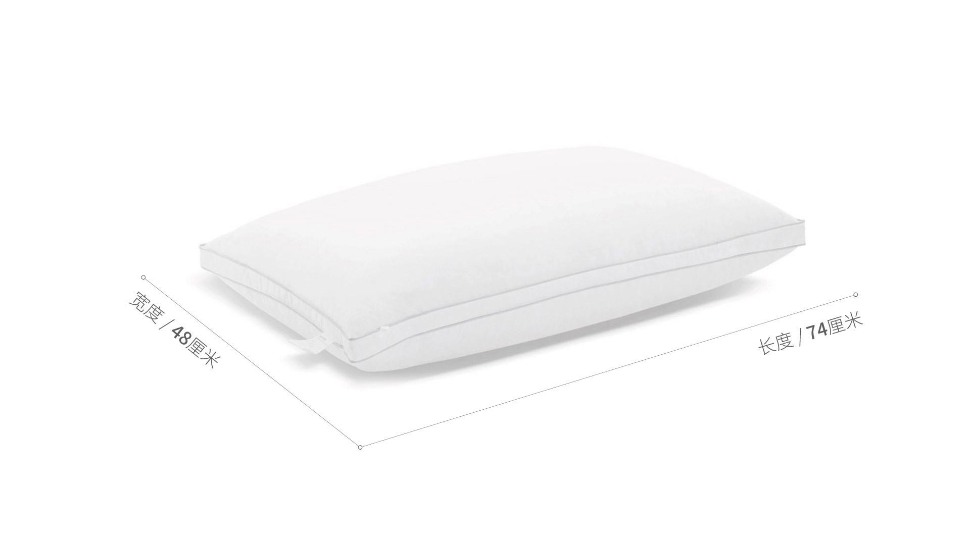 造作有眠白鸭绒轻羽枕芯®硬枕床·床具效果图