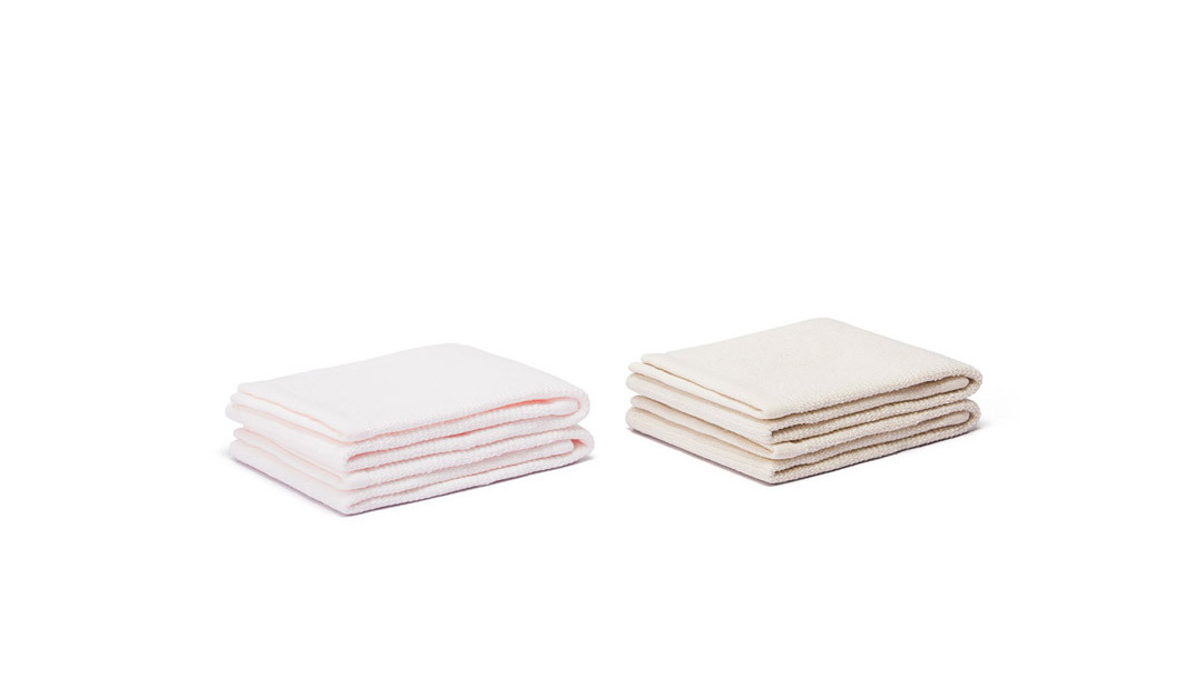 亲亲毛巾4条套装面巾4条套装(杏/粉各2条)家纺