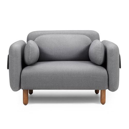 鹅卵石单人位沙发