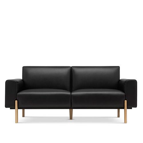 飞鸟沙发真皮版双人座沙发效果图