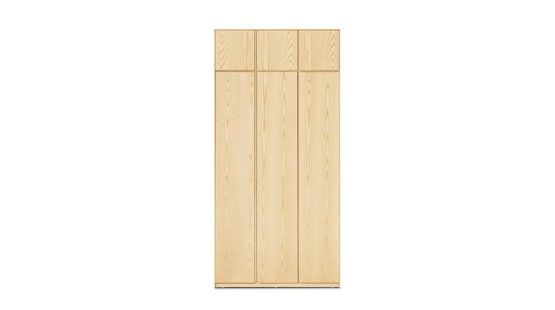 画板三门衣柜有顶柜柜架