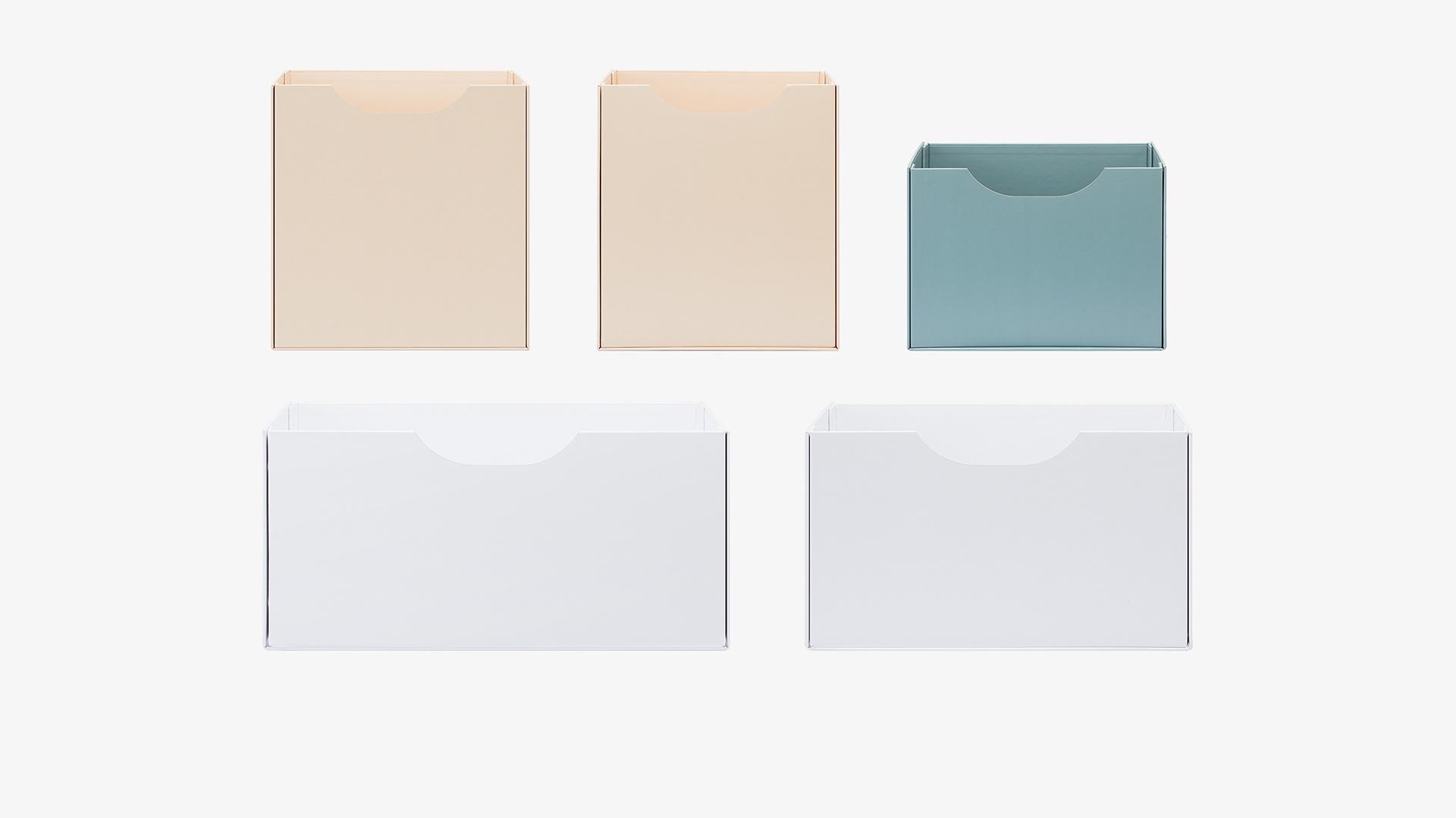 5款不同尺寸抽屉,半开放式储物格