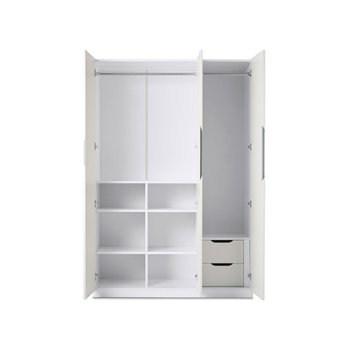 贡多拉衣柜®三门A款柜架效果图