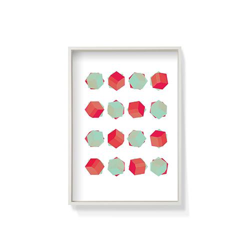 作画-骰子系列白色框装饰效果图