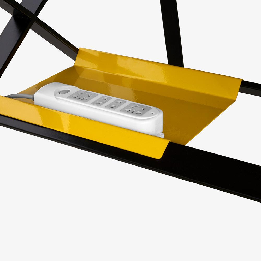 插排托盘<br/>亮黄色桌下风景
