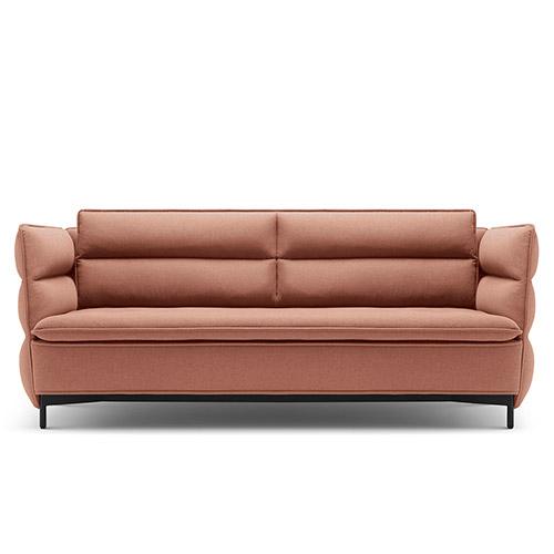 半月灣沙發矮背雙人座沙發效果圖