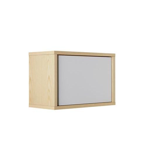 青山储物格带门格柜架效果图