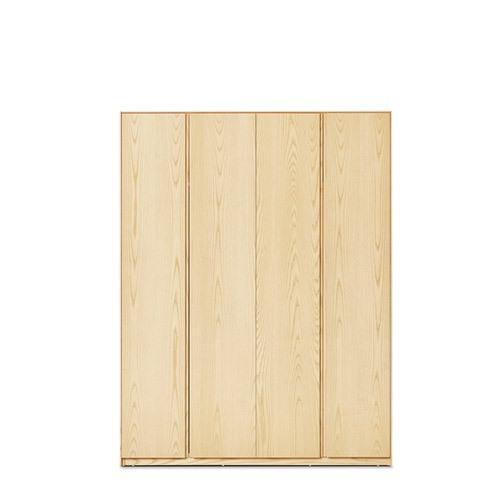 画板四门衣柜无顶柜柜架效果图