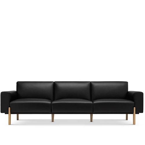 飞鸟沙发真皮版三人座沙发效果图