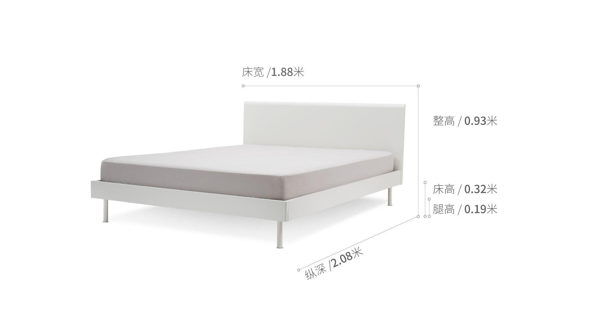 贡多拉床1.8米款床·床具效果图