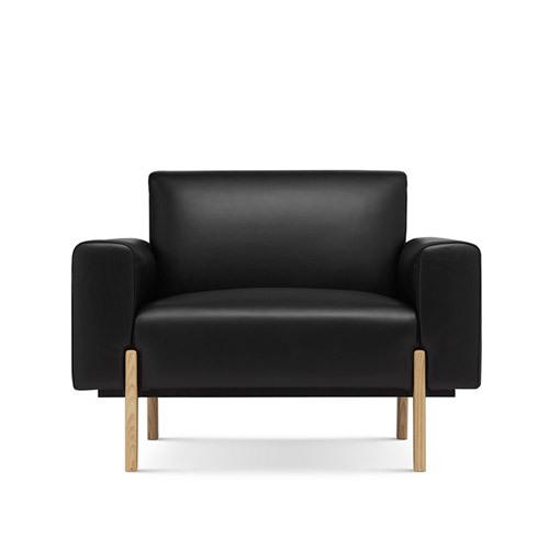 飞鸟沙发真皮版单人座沙发效果图