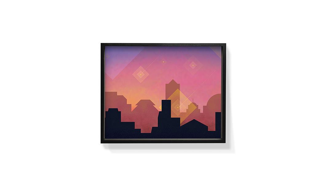 作画-城市系列装饰