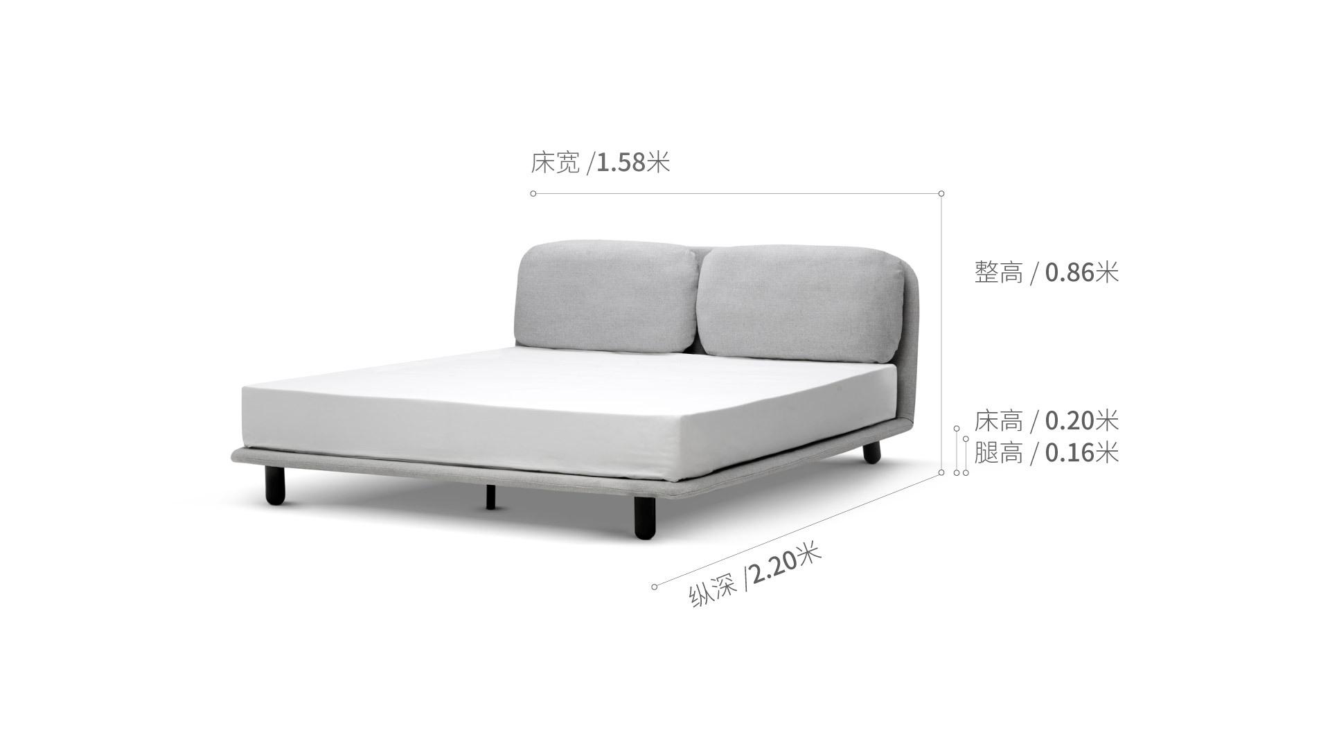 云团床®1.5米款床·床具效果图