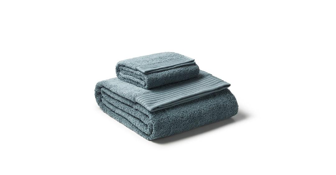 泡芙浅野纱毛巾组澄绿面巾家纺