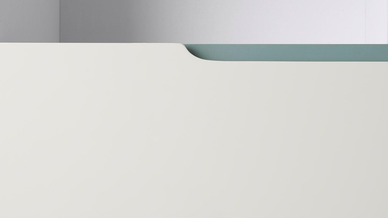 ▲ 全系列柜体拉手部分的比例,都原貌还原了舟头造型,小细节见灵光