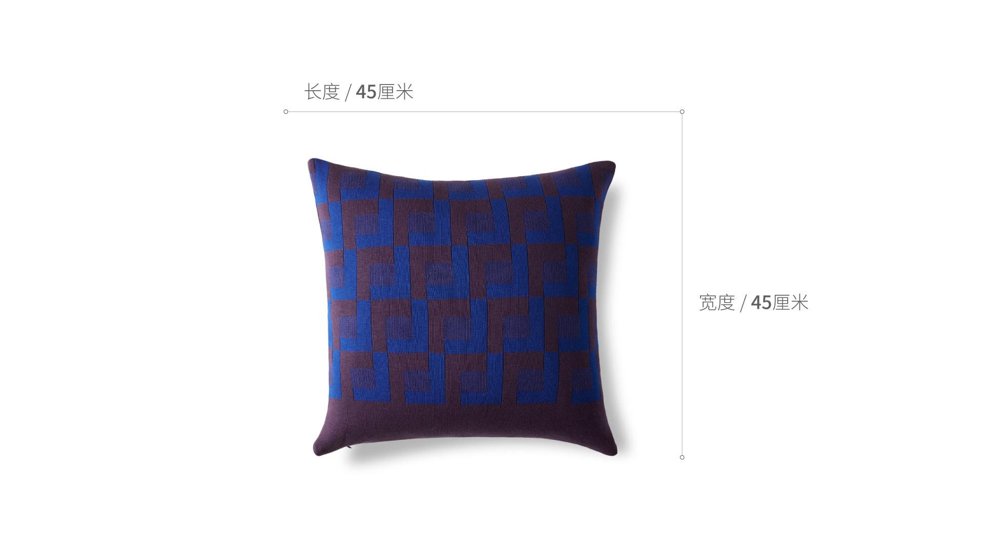 霓虹精梳棉提花抱枕家纺效果图