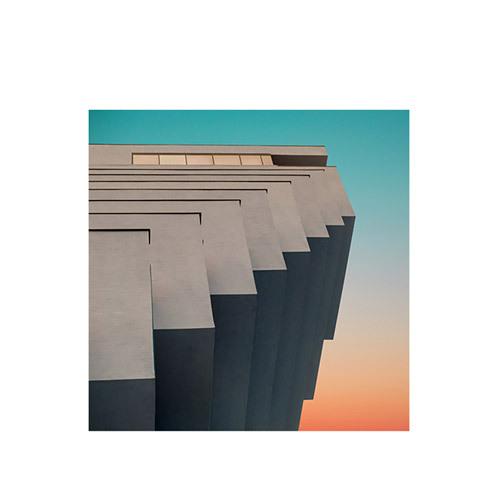旅行家限量画芯 | Øystein Sture Aspelund作品6号-青色10(装裱后)装饰效果图
