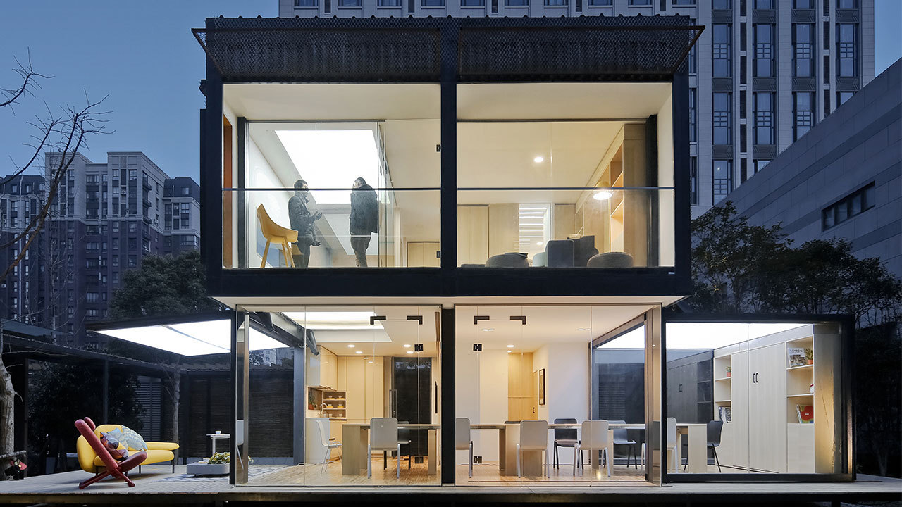 暖暖的新家 X 造作 | 72㎡集装箱变身4室8厅花园别墅