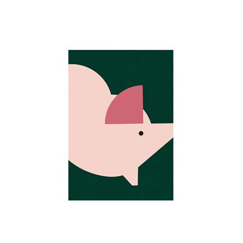 造画-猪猪系列2无画框装饰效果图
