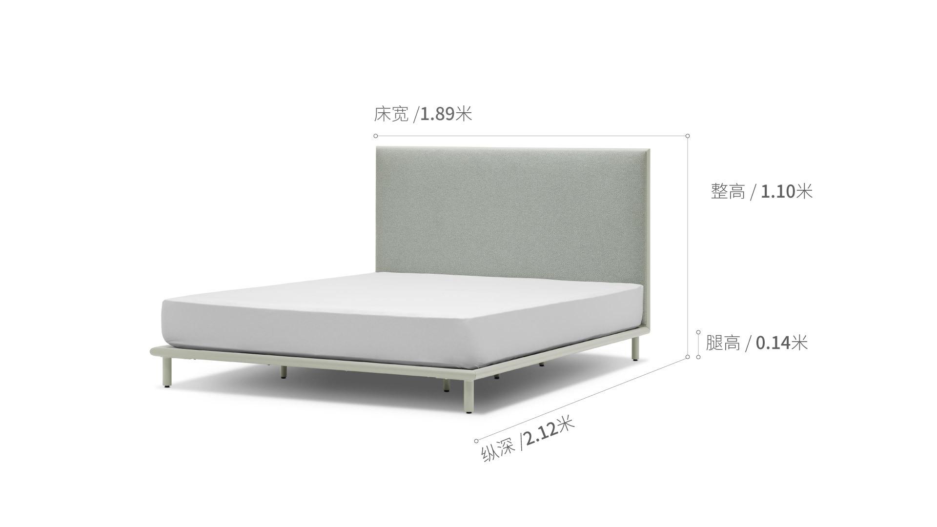 美术馆床1.8米款床·床具效果图
