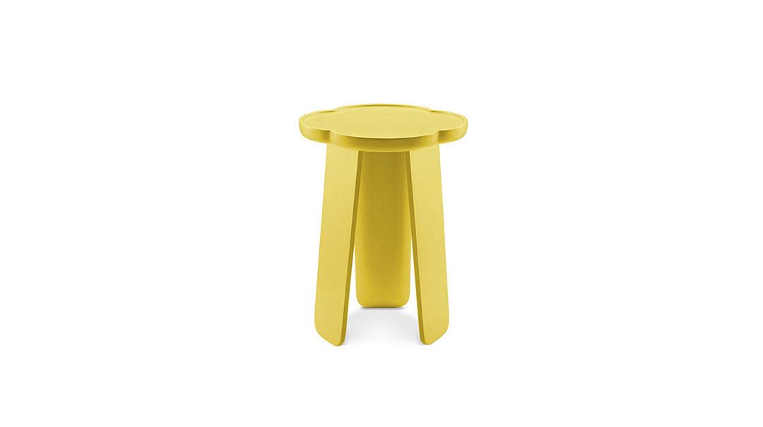 造作花间实木小桌®高桌(四叶款)桌几
