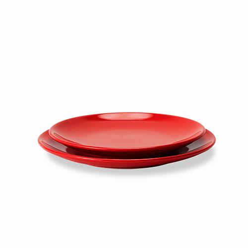 吴冠中艺术瓷餐具组-印尼舟群纯色盘套装餐具效果图