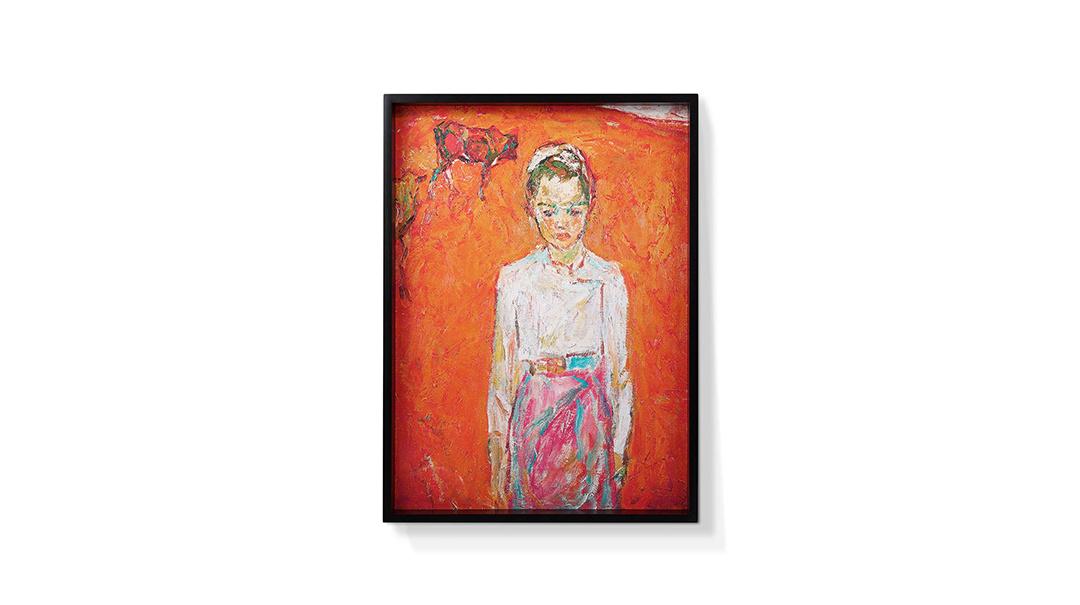 罗尔纯系列版画-傣族女孩null
