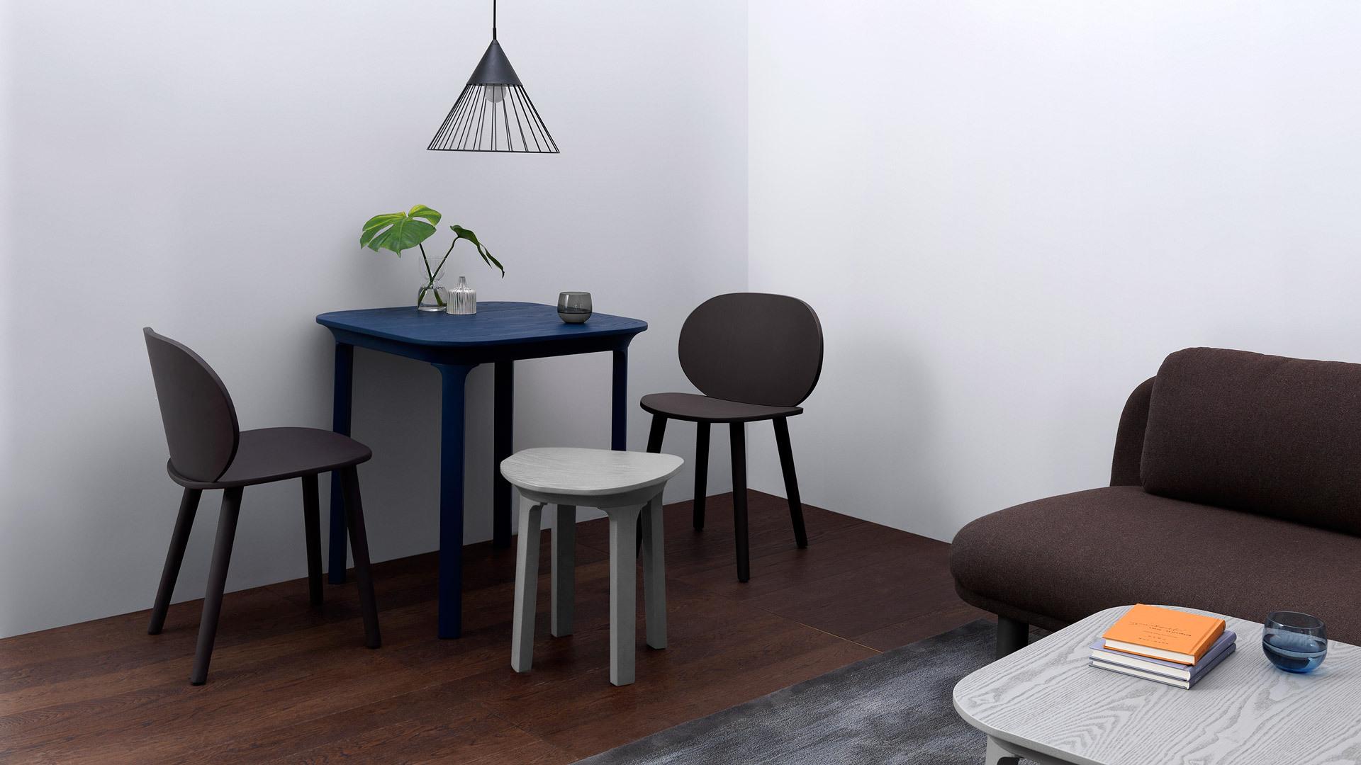 圆润有趣的桌椅巧妙相衬,错落线条跳出层次视感,活泼营造一角别致餐区。
