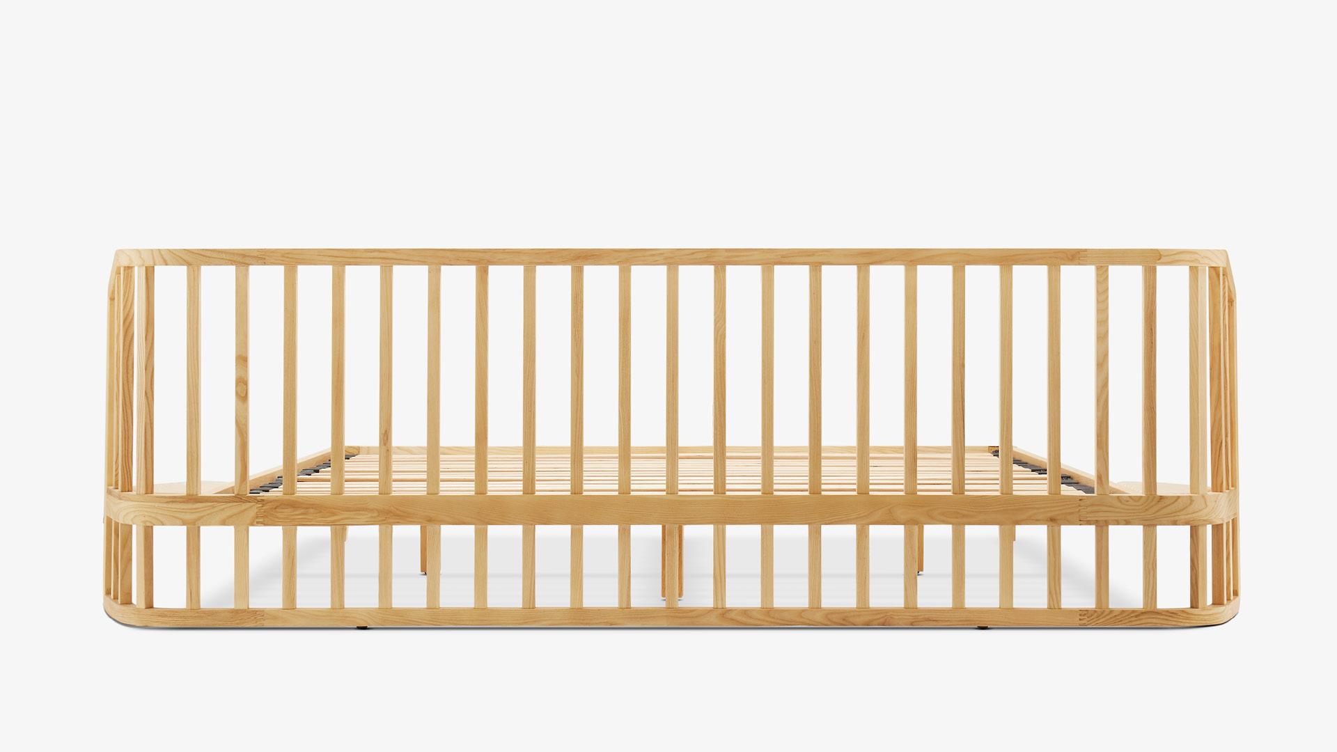 雕塑级琴形床头,复杂木作工艺,精准打造