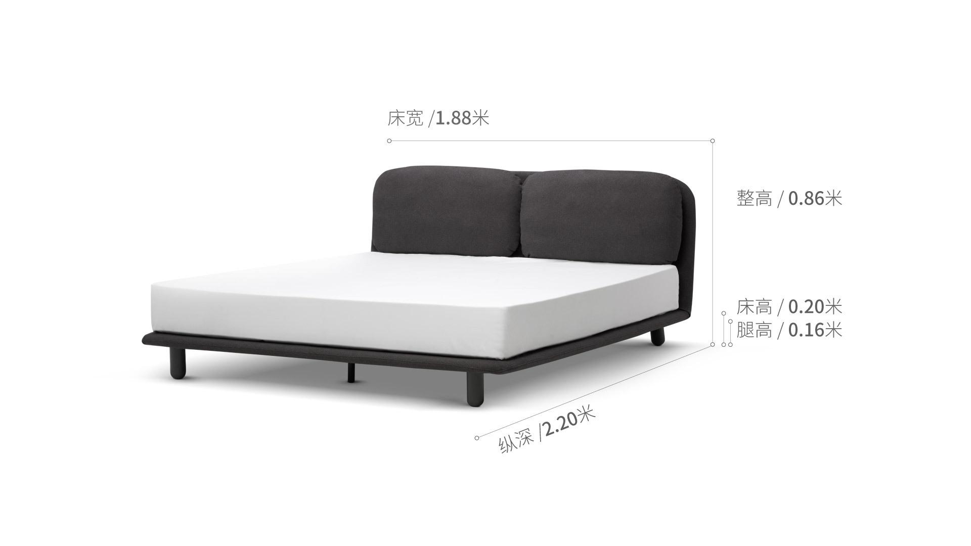 云团床®1.8米款床·床具效果图