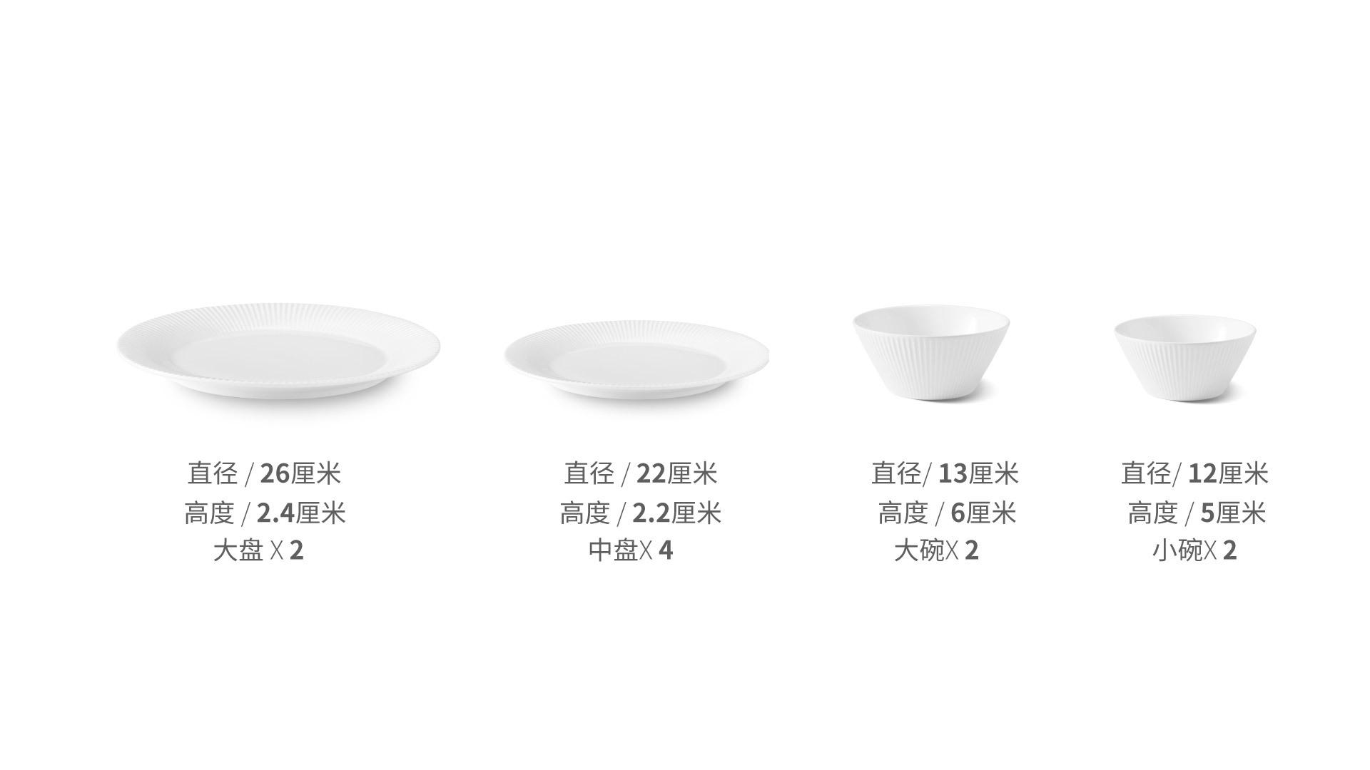 莹贝餐具10件组餐具效果图