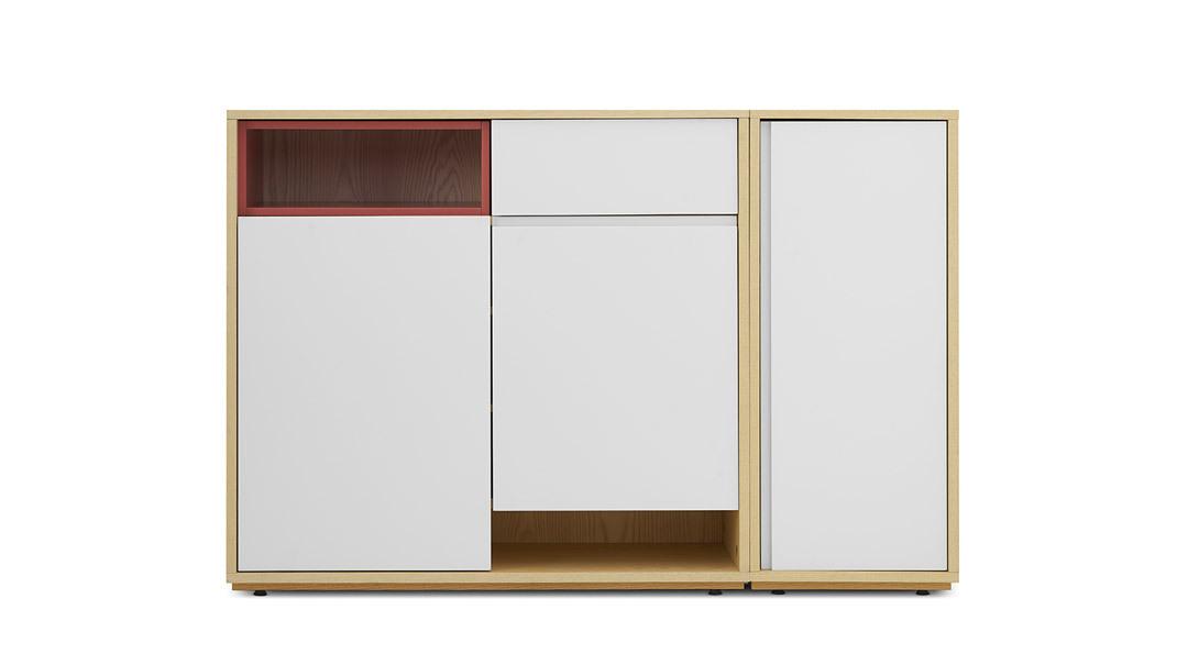 青山鞋柜1米宽柜体+盒子柜架