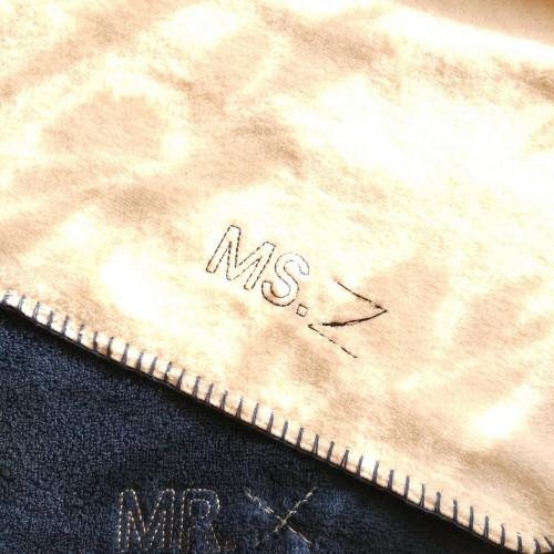 MS_Couple毛巾组MR.MS.面巾套装(粉蓝各1条)怎么样_1