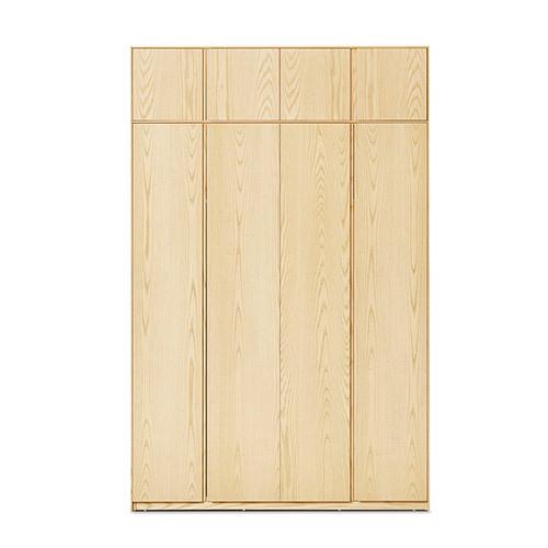 画板衣柜®四门有顶柜柜架效果图