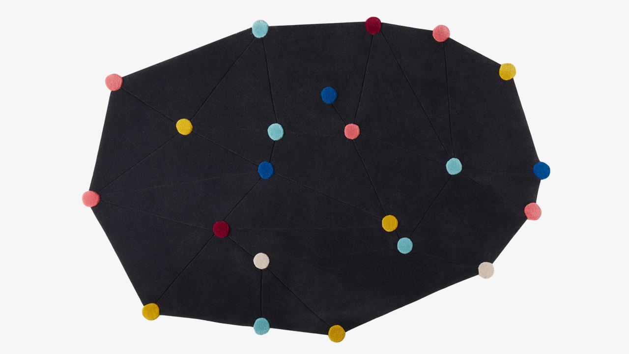 新西兰羊毛7色22星,手工织画满天星河