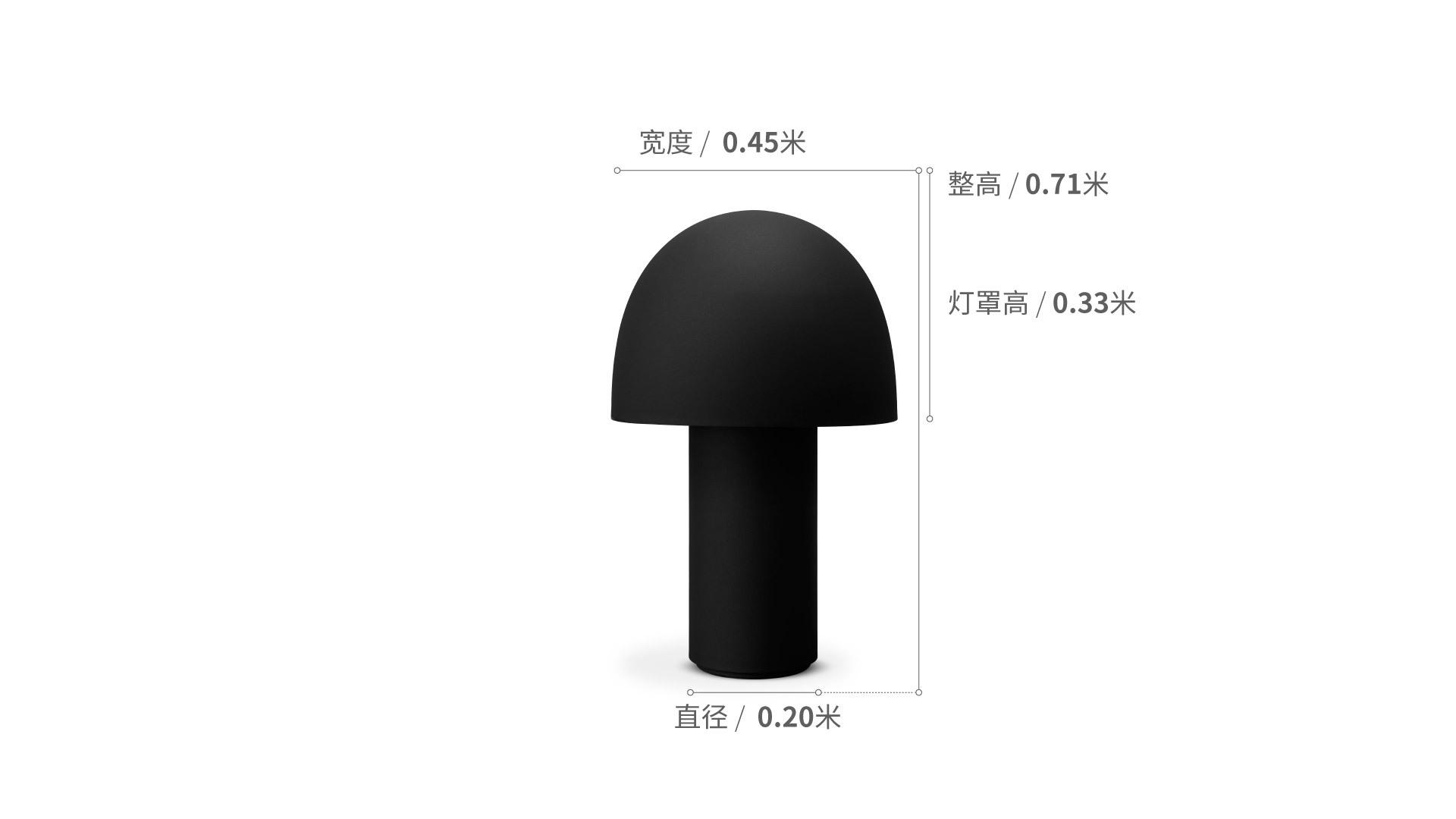 蘑菇地灯灯具效果图