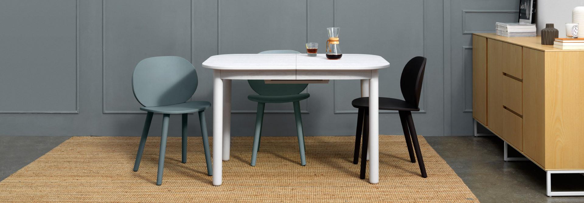 灵动收敛,兼具颜值与功能性的漂亮伸缩桌
