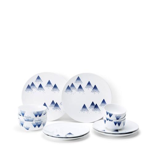 细雪青花瓷12件套餐具