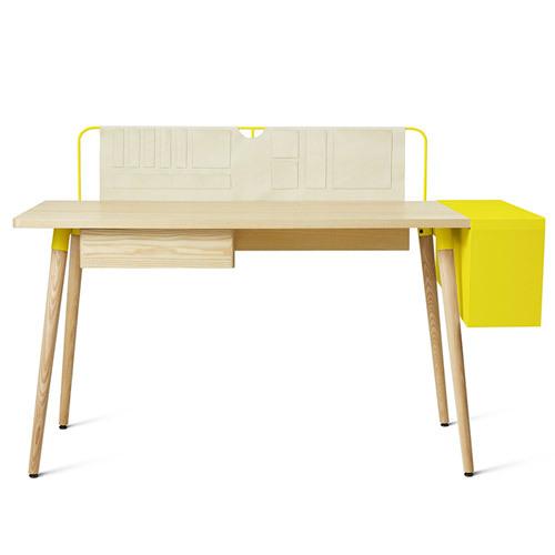 造作井然工作桌?長桌(帶書箱)桌幾效果圖