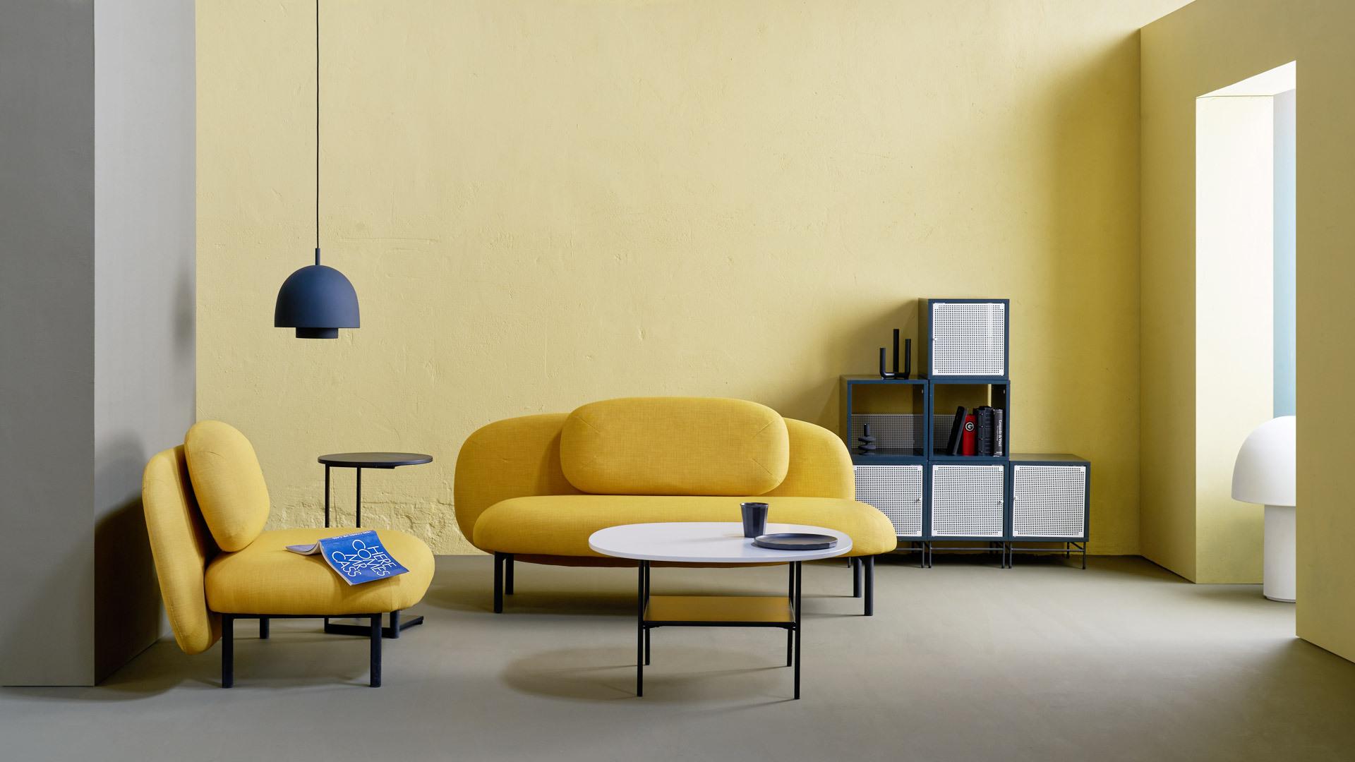 黄与黑的开放围合,中小空间明媚之选