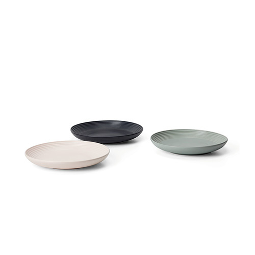 折简浸釉餐具组®-盘碗8寸圆盘套装餐具效果图