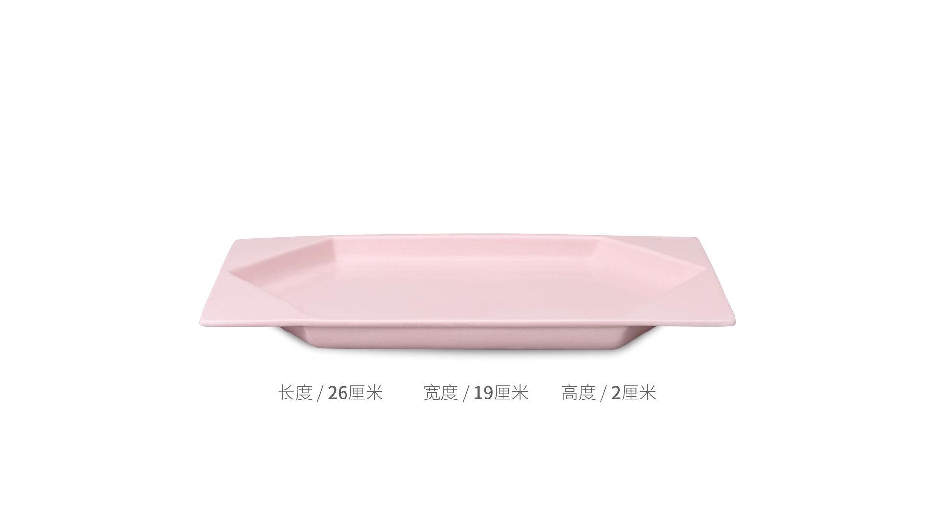 翻糖餐具组六角长方盘餐具效果图