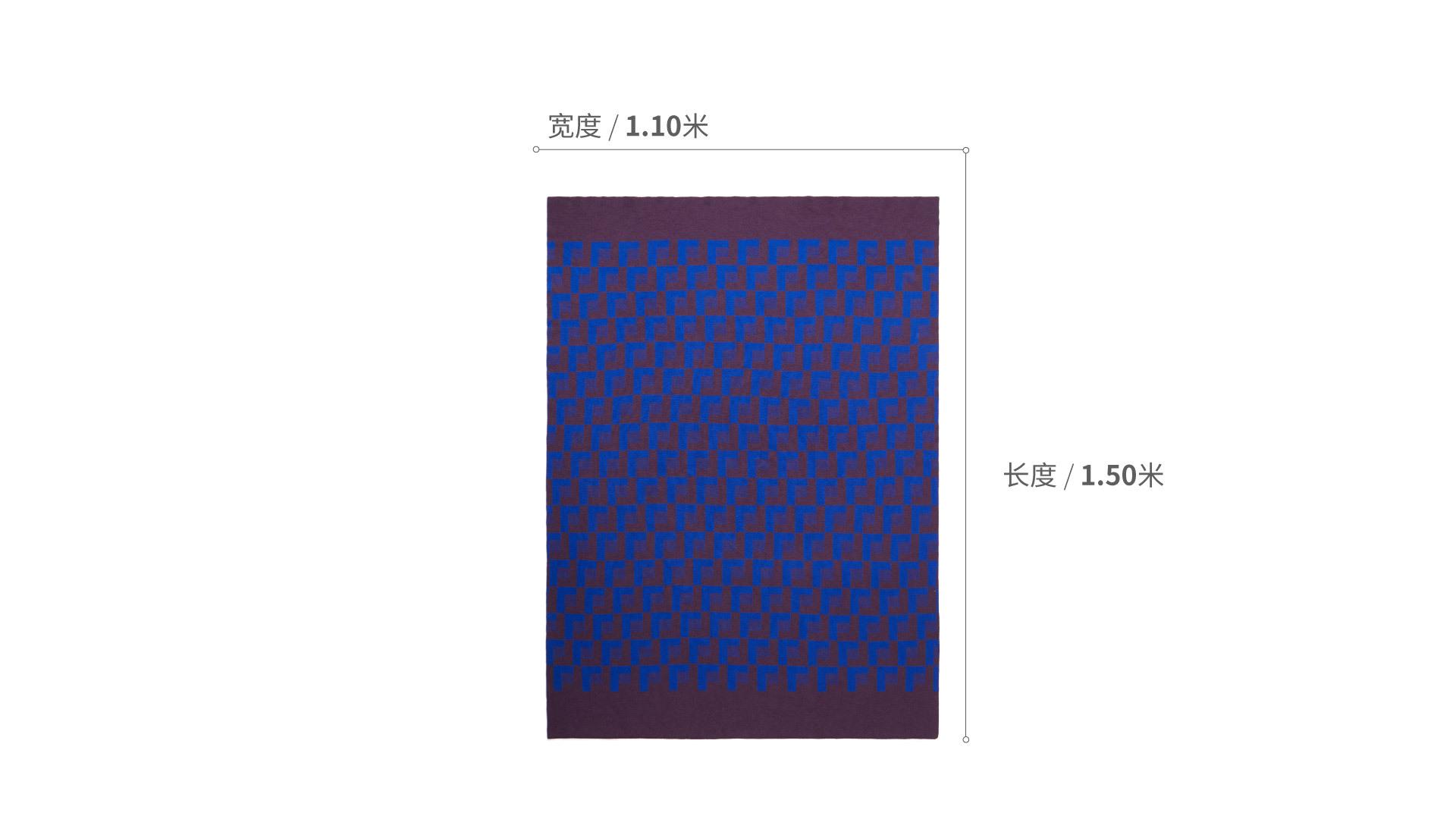 霓虹澳洲羊毛提花针织毯家纺效果图