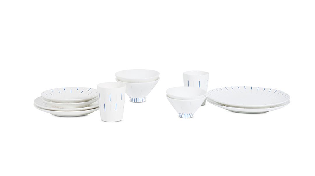 镜线西班牙瓷土餐具组餐具